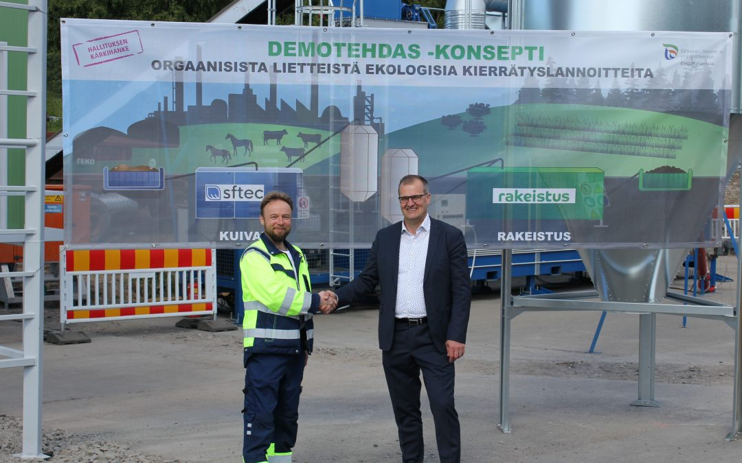 Demoplant for nutrient recycling opened in Oulu Finland